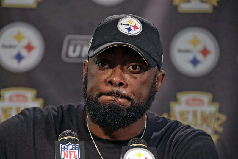 Pittsburgh Steelers head coach Mike Tomlin said he is not concerned with Washington's head coaching opening. (AP)