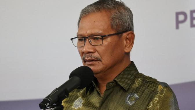 Juru Bicara Penanganan COVID-19 di Indonesia, Achmad Yurianto saat konferensi pers Corona di Graha BNPB, Jakarta, Selasa (5/5/2020). (Dok Badan Nasional Penanggulangan Bencana/BNPB)