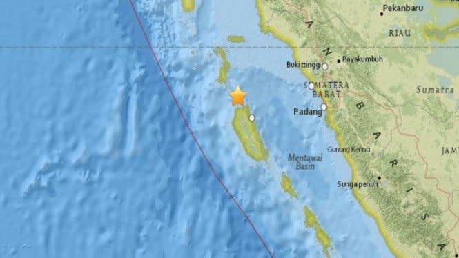 Gempa 5,3 SR Guncang Sumatera Barat