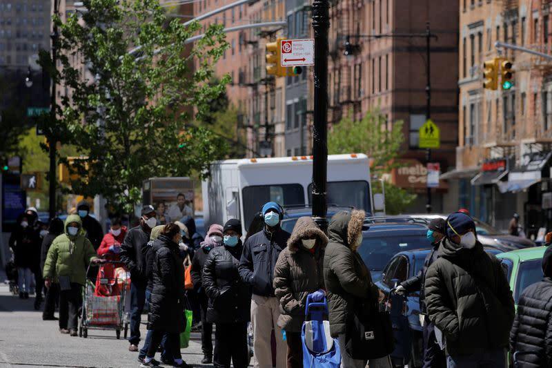FILE PHOTO:  The outbreak of the coronavirus disease (COVID-19) in Manhattan, New York City