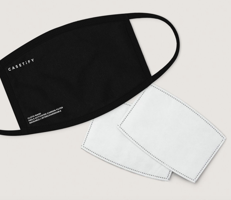 Reusable Cloth Mask - Black. (PHOTO: Casetify)