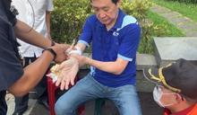陳菊入立院質詢藍綠爆推擠 費鴻泰20公分傷口見血