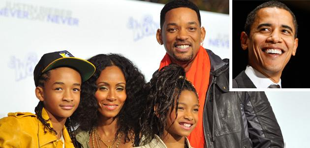'Men in Black' moment: Will Smith and son Jaden get real with Pres. Obama