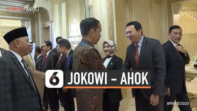 VIDEO: Momen Jokowi Salaman dengan Ahok di Abu Dhabi