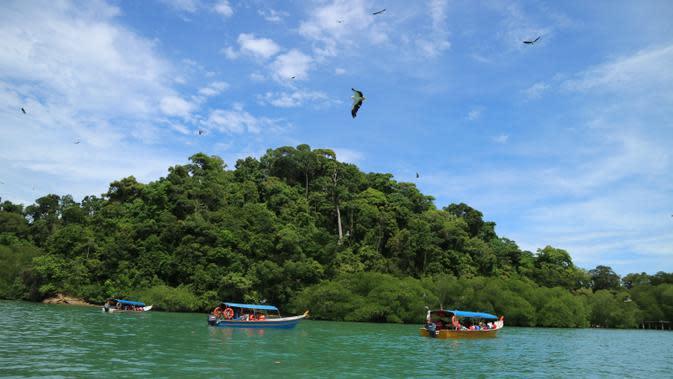 Ilustrasi Pulau Tropis (Foto : Akbar Muhibar/Liputan6.com)