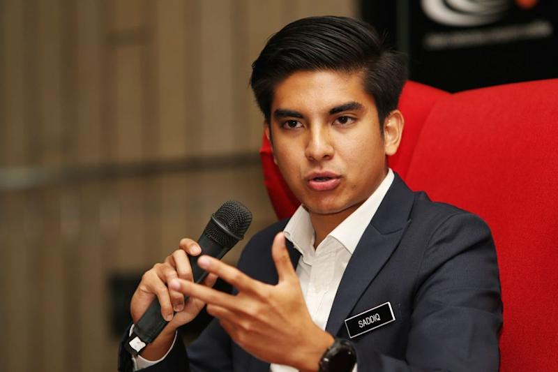 Syed Saddiq said a representative from his ministry will lodge a police report against Johor Press over its allegations. — Picture by Choo Choy May