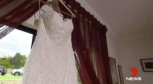 Luckily the gown was returned to her just days before he wedding. Source: 7 News