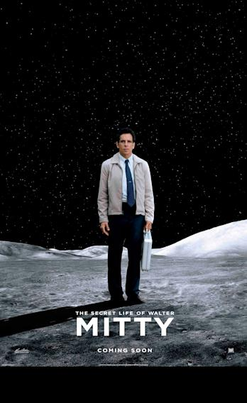 The Secret Life of Walter Mitty Moon Poster