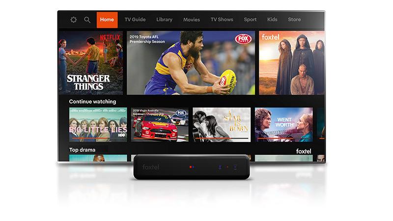 The new look Foxtel interface.