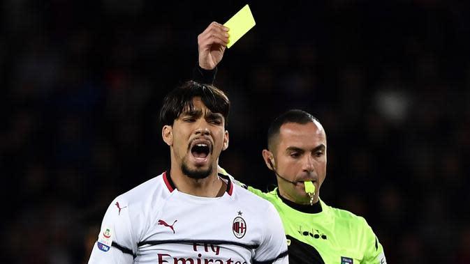 Gelandang AC Milan, Lucas Paqueta (AFP/Marco Bertorello)
