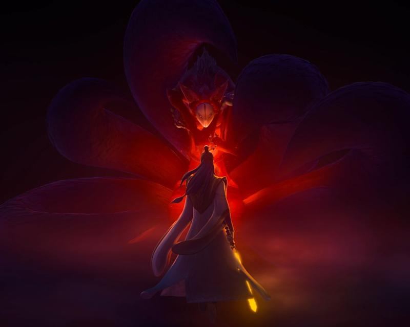 The Nine-tailed Fox Spirit in Jiang Zi Ya: Legend of Deification by Coloroom Pictures. (Image: Encore Films)