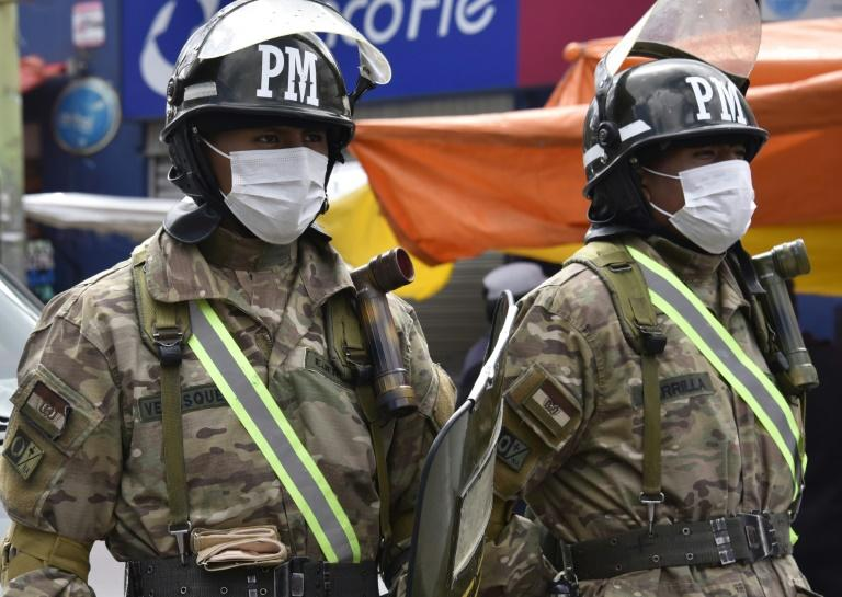 More soldiers and police have been deployed to enforce the nationwide lockdown, Bolivian acting President Jeanine Anez said