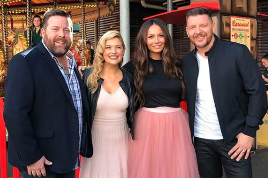 Shane Jacobson, Lucy Durack, Ricki-Lee Coulter and Manu Feildel at Luna Park