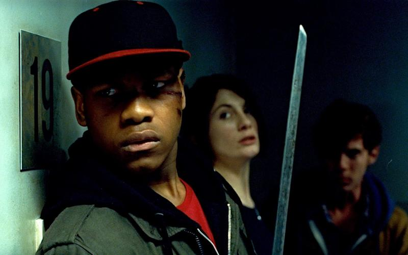 John Boyega and Jodie Whittaker in Attack The Block