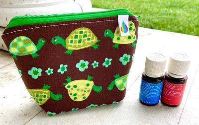 holds 6 bottles Mini flat essential oil Bag Essential oil gift Essential oil storage essential oil case travel Essential oil bag