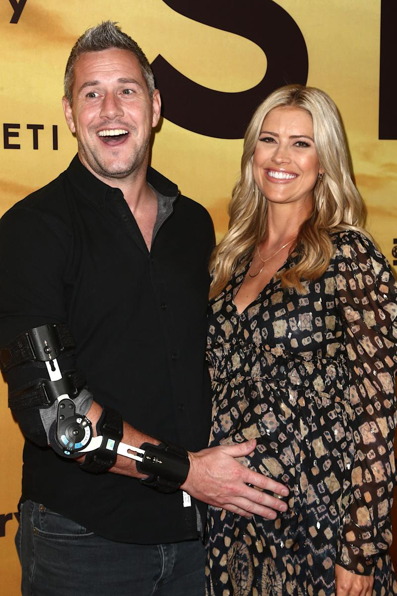 "Christina Anstead and Ant Anstead attend the Los Angeles Special Screening of Discovery's ""Serengeti"" for the Performing Arts on July 23, 2019, in Beverly Hills, California."