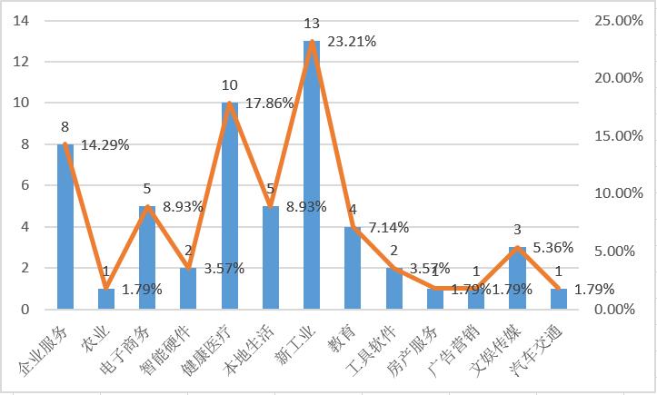 賽道分佈圖,36氪據公開資料整