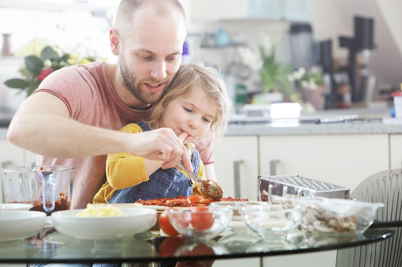 """<p>Sharing a meal with your kids is great, but you can also combine culinary forces and solve the mystery of what superheroes eat for dinner. Dr. Trumbell even encourages letting the child choose the <a href=""""https://www.redbookmag.com/quick-easy-recipes/"""" target=""""_blank"""">recipe</a>, which will make them feel even more involved.</p>"""