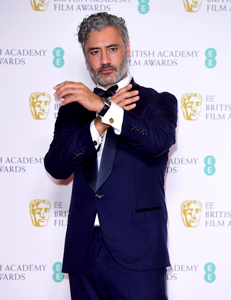 Taika Waititi in the press room at the 73rd British Academy Film Awards held at the Royal Albert Hall, London.