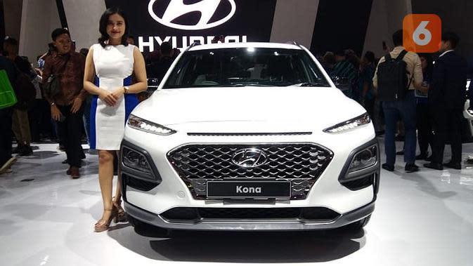 Hyundai Kona melantai di IIMS 2019. (Dian / Liputan6.com)