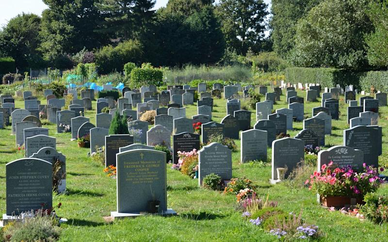 Gravestones could feature foreign inscriptions without English translations - www.alamy.com