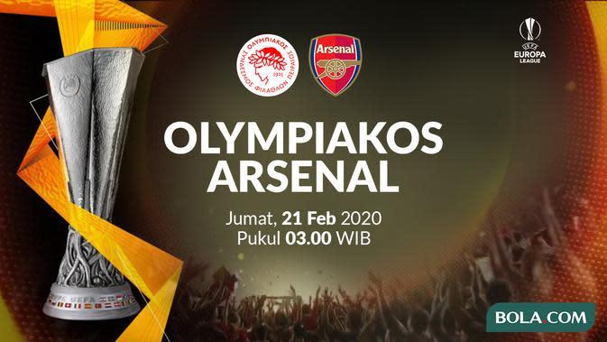 Link Live Streaming SCTV: Olympiakos vs Arsenal di Liga Europa