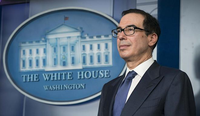 US Treasury Secretary Steven Mnuchin said the 3.28 million first-time jobless claims filed last week did not reflect the impact of the US$2 trillion stimulus package. Photo: Bloomberg