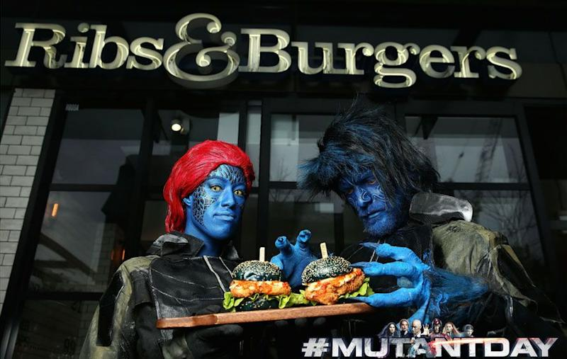 To celebrate Mutant Day and the release of X-Men: Apocalypse on Blu-ray, 20th Century Fox Home Entertainment have teamed up with Ribs & Burgers to create the ultimate Mutant Burger. Source: Supplied.