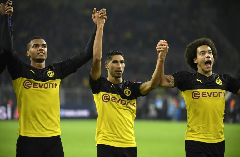 Dortmund right-back Achraf Hakimi helped inspire their 3-2 win over Inter Milan on Tuesday with two second half goals