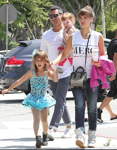 Jessica Alba & Family Attend Honor's Ballet Recital