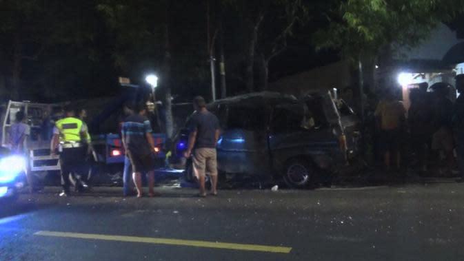 Kronologi Kecelakaan Maut 4 Mobil Saling Bertubrukan di Gunungkidul