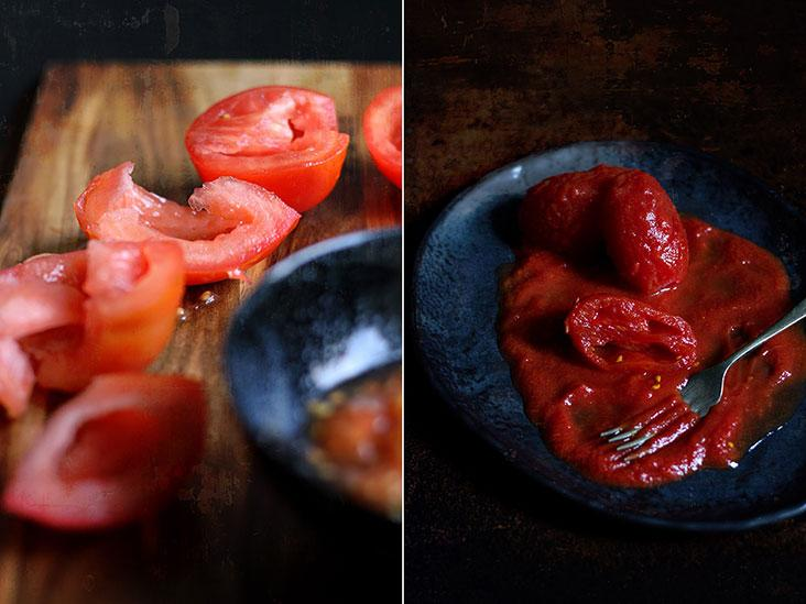 Use a mix of fresh and canned tomatoes for different textures