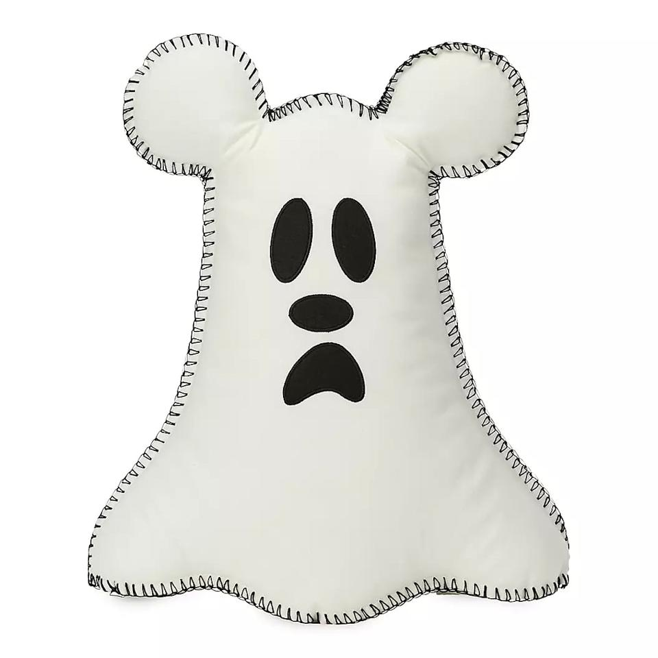 """<p>The <a href=""""https://www.popsugar.com/buy/Mickey-Mouse-Ghost-Pillow-480444?p_name=Mickey%20Mouse%20Ghost%20Pillow&retailer=shopdisney.com&pid=480444&price=25&evar1=moms%3Aus&evar9=46499409&evar98=https%3A%2F%2Fwww.popsugar.com%2Fphoto-gallery%2F46499409%2Fimage%2F46503139%2FMickey-Mouse-Ghost-Pillow&list1=shopping%2Challoween%2Cdisney%2Challoween%20decor%2Chome%20shopping&prop13=api&pdata=1"""" rel=""""nofollow"""" data-shoppable-link=""""1"""" target=""""_blank"""" class=""""ga-track"""" data-ga-category=""""Related"""" data-ga-label=""""https://www.shopdisney.com/mickey-mouse-ghost-pillow-400021277953.html#!"""" data-ga-action=""""In-Line Links"""">Mickey Mouse Ghost Pillow</a> ($25) is a great addition to a couch or chair, and if you flip it to its other side, you can show off its ghostly """"boo to you"""" message.</p>"""