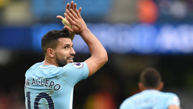 10. Sergio Aguero (Manchester City) - 173 Gol.(AFP/Oli Scarff)