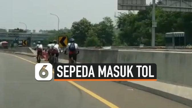 Pesepeda yang Masuk Tol Diamankan Polisi, Denda Jutaan Rupiah Menanti