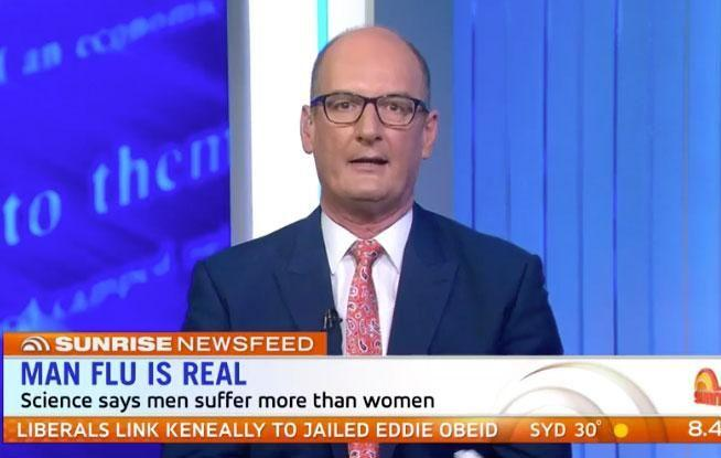 Television presenter David 'Kochie' Koch certainly raised eyebrows on Wednesday morning, when he made a comment on Sunrise about the differences between men and women. Source: Channel Seven