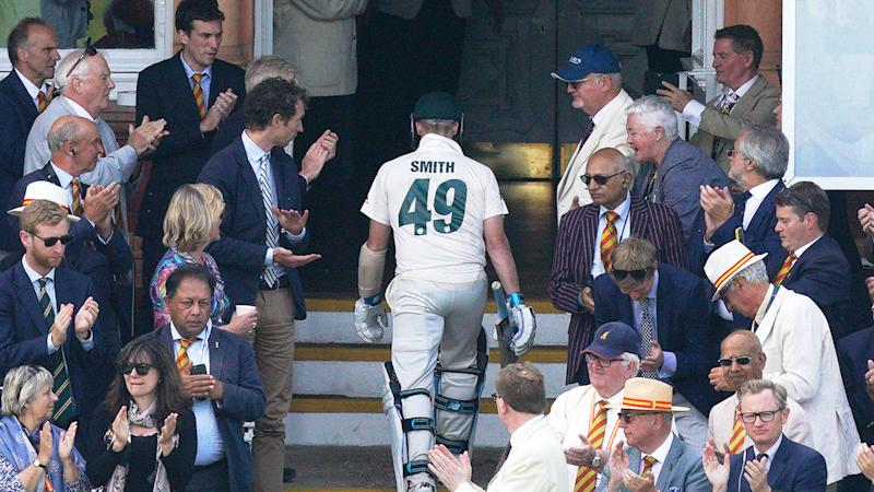 Steve Smith, pictured here walking off the ground at Lord's. (Photo by Jed Leicester/Getty Images)