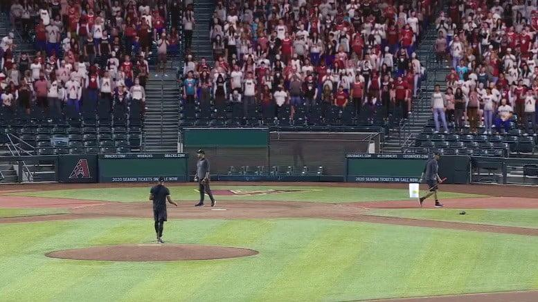 Baseball is back — with virtual crowds to fill up empty stadiums