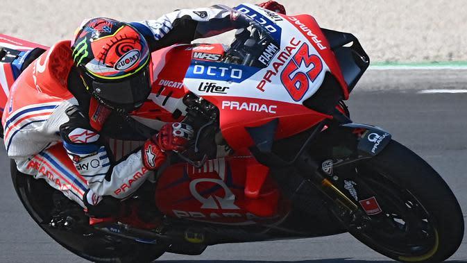 FP3 MotoGP Emilia Romagna: Pecco Bagnaia Pecahkan Rekor Lap Lalu Kecelakaan