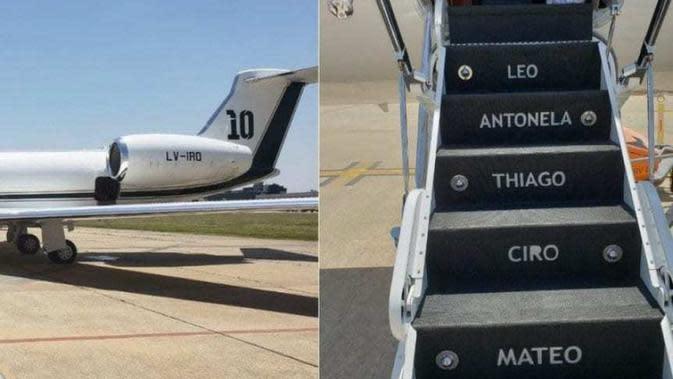 Penampakan eksterior pesawat milik Lionel Messi (Marca)