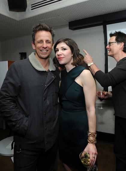 IMAGES DISTRIBUTED FOR IFC - Seth Meyers, Carrie Brownstein and Kyle MacLachlan attend the Portlandia Season 4 Premiere Party on Thursday, February, 27, 2014 in New York. (Photo by Diane Bondareff/Invision for IFC/AP Images)