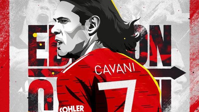 Edinson Cavani resmi bergabung dengan Manchester United (MU). (foto: Instagram @manchesterunited)