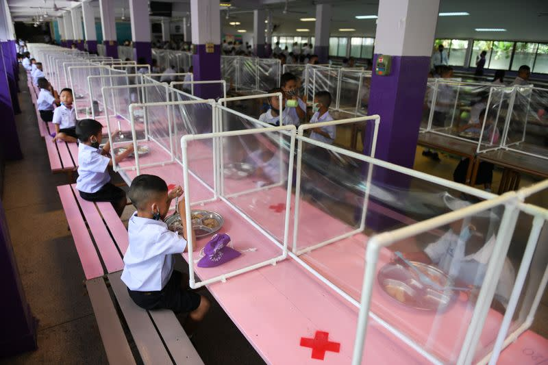 Schools in Thailand reopen amid the spread of the coronavirus disease (COVID-19)