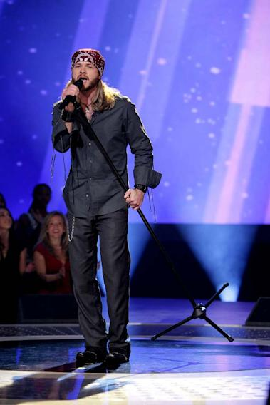 Robbie Carrico performs as one of the top 24 contestants on the 7th season of American Idol.