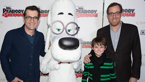 Ty Burrell, Rob Minkoff Travel Way Back for 'Mr. Peabody and Sherman' Premiere