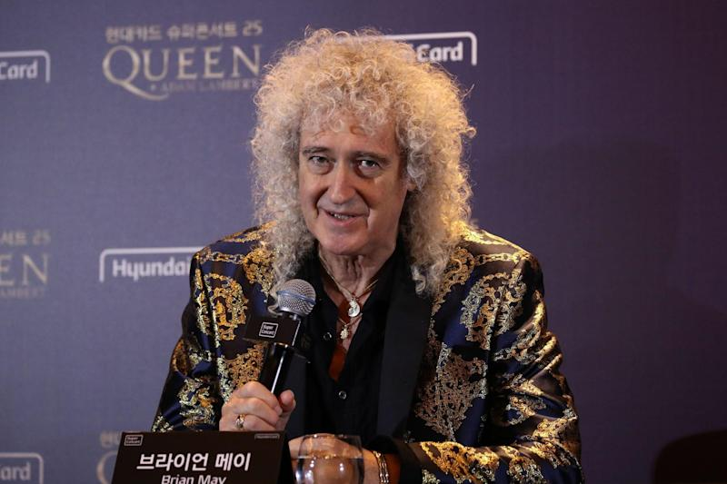 Brian May discussed Trump's use of Queen (POOL/AFP via Getty Images)