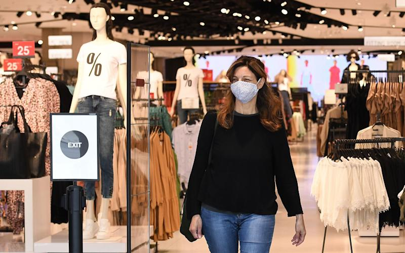 From next Friday, it will be compulsory to wear a face covering in shops - ANDY RAIN/EPA-EFE