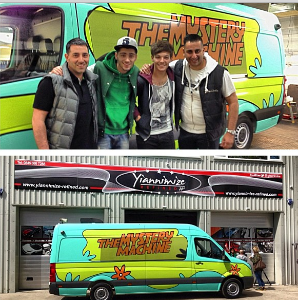 One Direction Shows Off New 'Scooby-Doo'-Styled Van