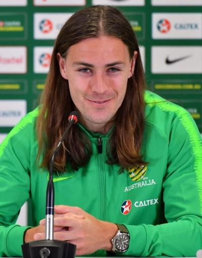 Jackson Irvine's flowing locks could be in danger should he find the back of the net in Russia