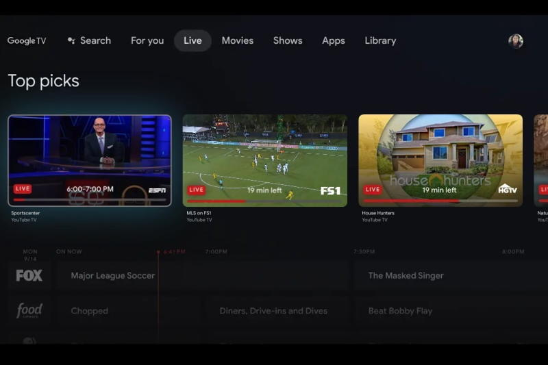 Google TV YouTube TV